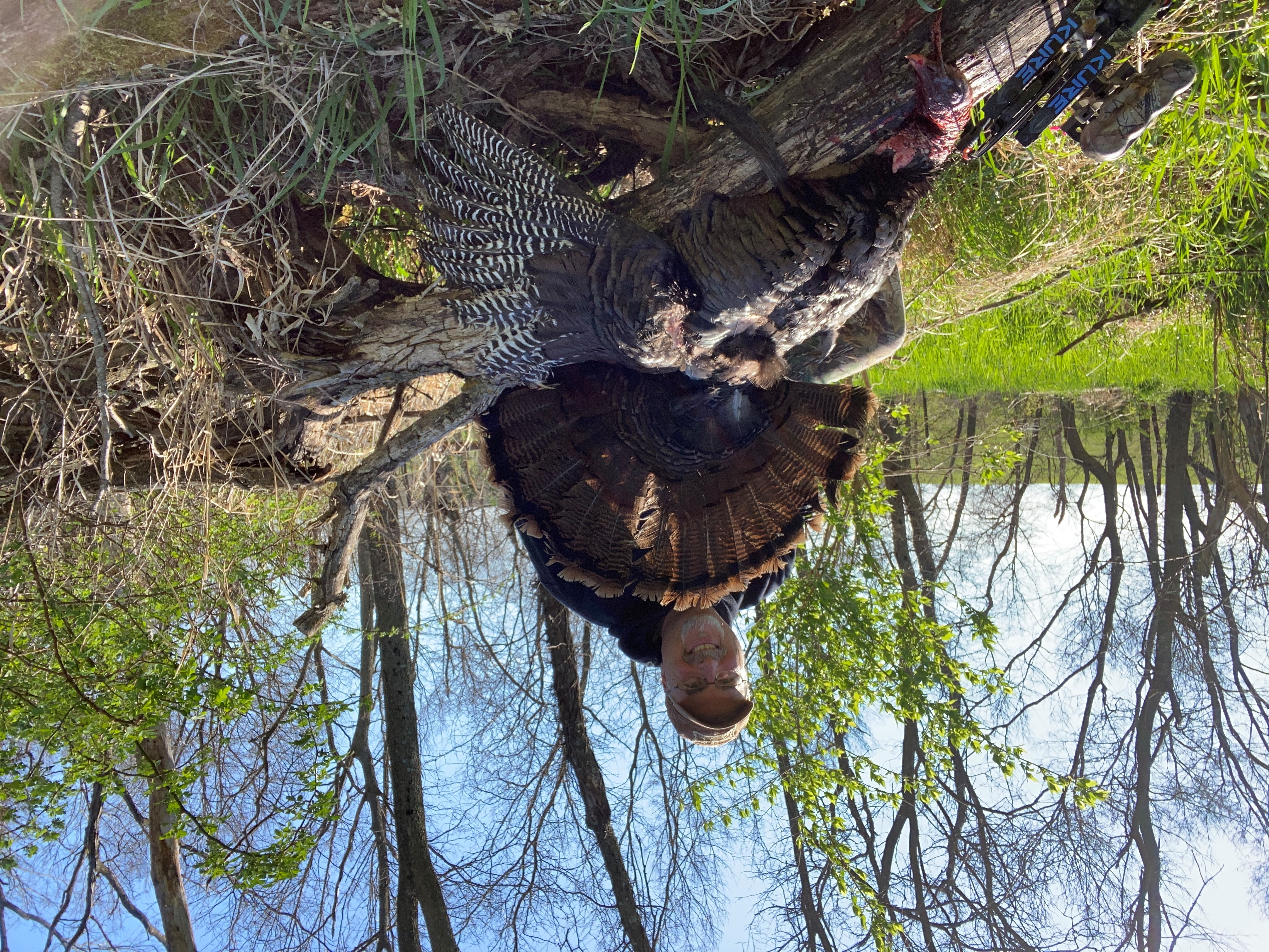 Outdoors Dan Young with an Impressive Turkey